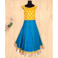 Silverthread Beautiful Lehnga Choli Set, Yellow & Blue